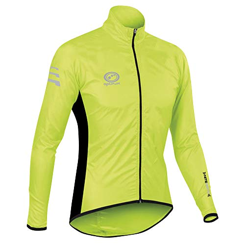 OPTIMUM Veste de Pluie pour Cycliste Nitebrite pour Homme, très Grand, Vert-Vert, XX Large