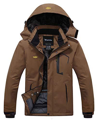 Wantdo Homme Veste de Ski Outdoor Veste Imperméable Coupe-Vent Manteau d'hiver Chaud avec...