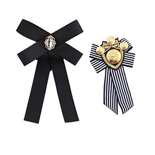 PPX Cravate Broche Bijoux Noeud Papillon pour Vêtements Manteau Veste Chapeau Femme...