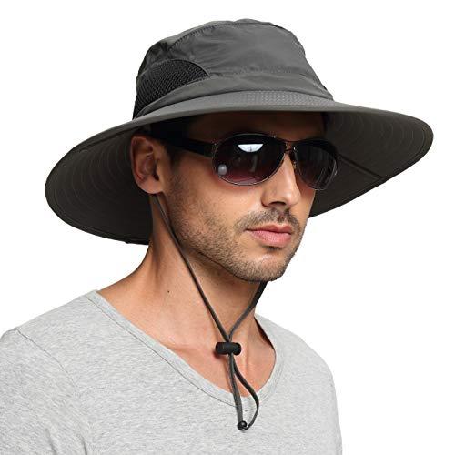 EINSKEY Chapeau Soleil Homme Femme Pliable Anti UV Outdoor Bucket Hat Étanche Chapeau de Voyage Safari Casquette
