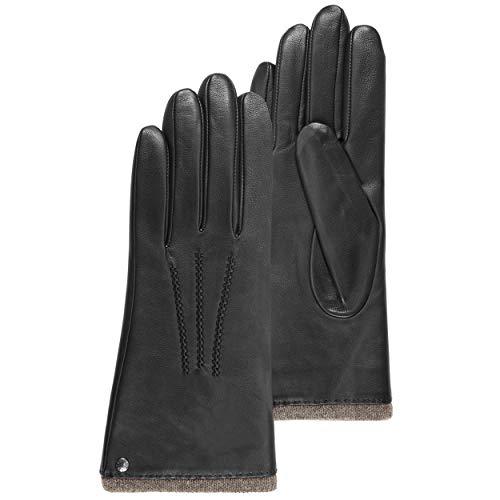 Isotoner - Gants cuir d'agneau femme (68602) - Noir - Taille 7.5