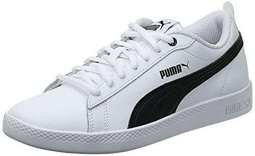 PUMA Smash WNS V2 L, Baskets Femme, Blanc White Black, 38 EU