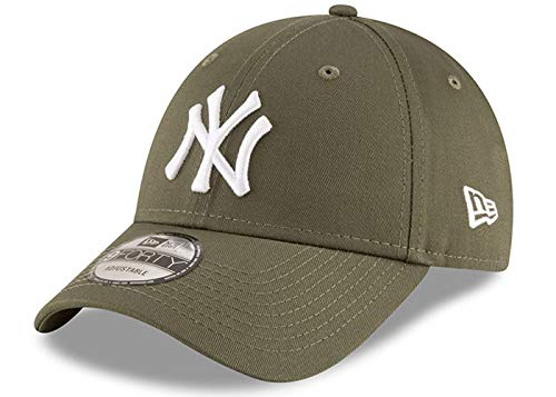 New Era New York Yankees 9forty Adjustable Cap League Essentials Olive Med - One-Size prix et achat