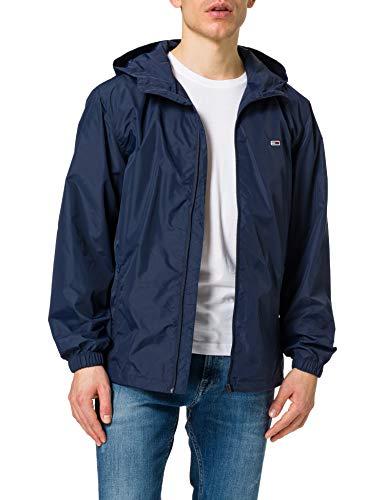 Tommy Jeans TJM Packable Windbreaker Coupe-Vent, Bleu Marine, L Homme