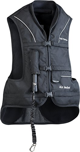 EQUI-THÈME Air - Gilet De Protection Equitation Avec Airbag - Noir - Adulte S