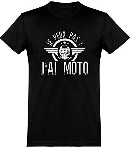 T Shirt Homme j'peux Pas J'Ai Moto 2 | Cadeau Humour Papa Anniversaire Original Rigolo...