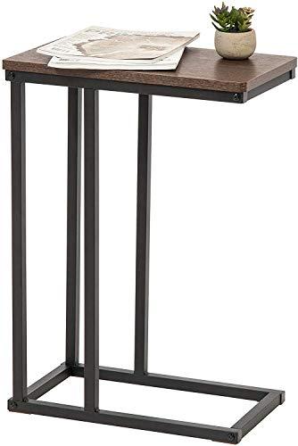 Marque Amazon - Movian Table d'appoint/Bout de canapé/Desserte de lit, Metal, Brun et Noir, 45 x 25,4 x 63,7 cm