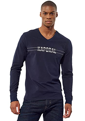 Kaporal - T-Shirt régular Homme avec imprimé - Tina - Homme - M - Bleu prix et achat