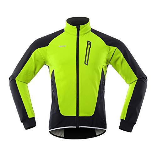 Lixada Hommes Cyclisme Veste Imperméable Coupe-Vent Thermique Polaire Vélo Jersey VTT Vélo...
