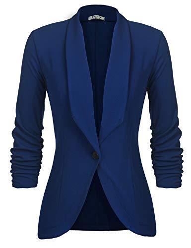 UNibelle Blazer Femme Veste Blazers Veste De Costume Manche 3/4 Casual Slim Court Chic Bleu...