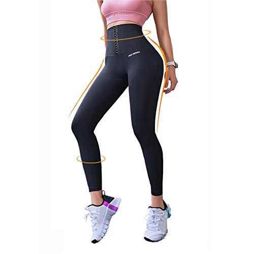 Leggings de gymnastique femmes taille haute, pantalons de yoga leggings de sport de levage de hanches de contrôle du ventre pantalons de yoga extensibles 2 en 1 anti-cellulite Leggings de compression