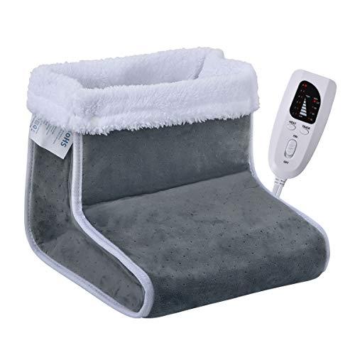 CIGAROL Chauffe-pieds flanelle, chauffrette pour pied à réglage de la température en 6 étapes, Arrêt automatique, lavable en machine(gris) prix et achat
