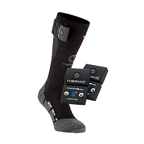 Therm-ic T45-0202-200 Chaussettes Chauffante Mixte Adulte, Noir, Taille 45-47