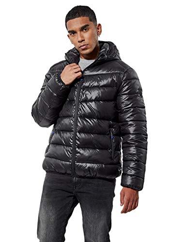 Kaporal - Doudoune régular Homme avec Capuche en 100% Polyester recyclé - Bilor - Homme - XL - Noir