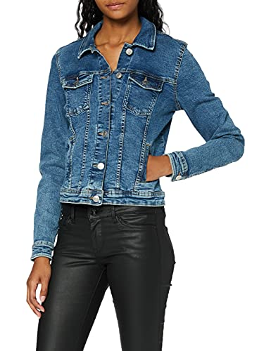 ONLY NOS Onltia DNM Jacket BB MB Bex02 Noos Veste en Jean, Bleu (Medium Blue Denim Medium Blue Denim), 44 (Taille Fabricant: 42) Femme
