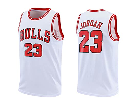 DDYa Taureaux Jersey Champion NBA Vintage Jersey Michael Jordan Maillot Swingman Basketball Mesh # 23 de Chicago Maillot de Basketball Sweat-Shirt Gilet Respirant et à séchage