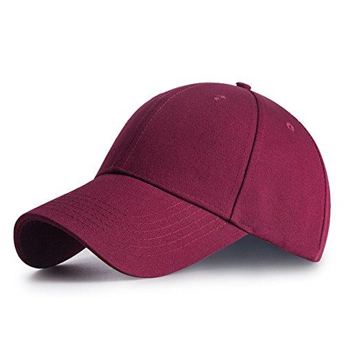 I Kua Fly Casquette de Baseball réglable Golf Hat Motorcycle Trucker Cap Strapback Cap pour Homme Femme (Rouge),Taille unique