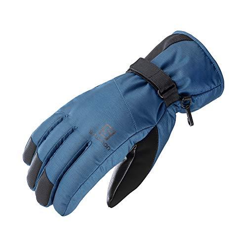 Gants de ski et de snowboard Salomon, hommes, FORCE DRY M, bleu (denim foncé), taille L, LC1428000