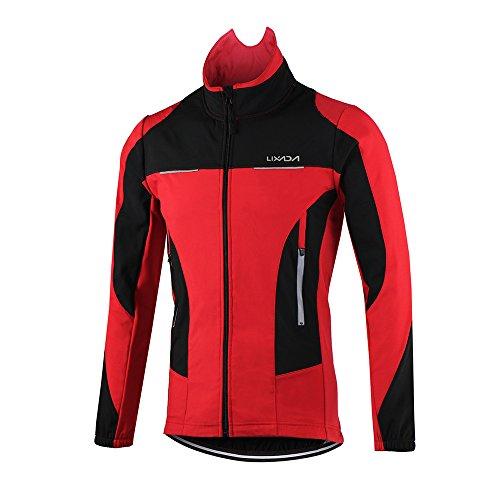 Lixada Vélo Veste Hommes en Plein Air Hiver Thermique Respirant Confortable Manches Longues...