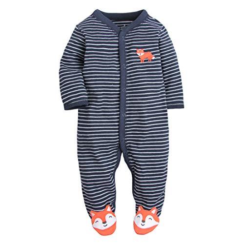 CARETOO Ourson bébé somnolent somnolent bébé, Pyjama en Coton Bande dessinée Romper,9...