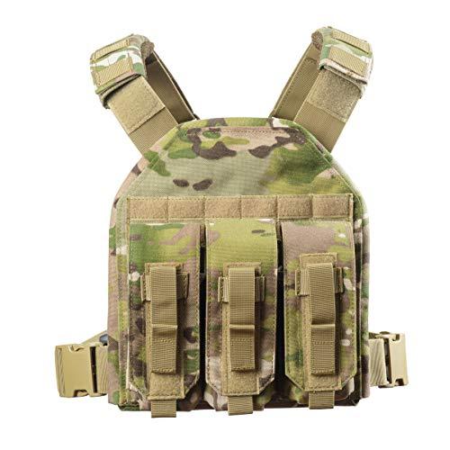CAMO Gilet d'assaut Rapide Porte-Assiettes Tactique (Camouflage)