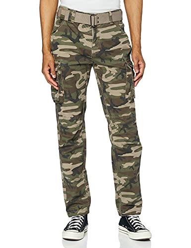 Schott Nyc TRRANGER70 Pantalon, Multicolore (Camo Kaki Camo Kaki), W34/L32 (Taille...