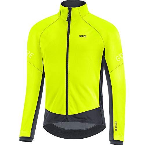 GORE WEAR Hommes Thermo veste à vélo, C3, GORE-TEX INFINIUM, L, Jaune-Fluo/Noir