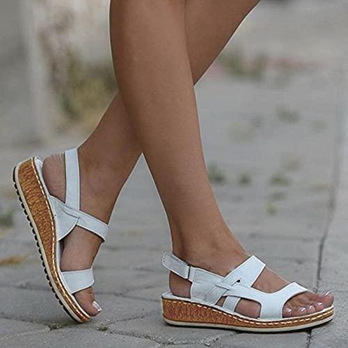 DZQQ Femmes Sandales été 2021 Femmes Chaussures Femme Peep-Toe Wedge Sandales Confortables Sandales Plates Femme Sandalias Grande Taille 43 prix et achat