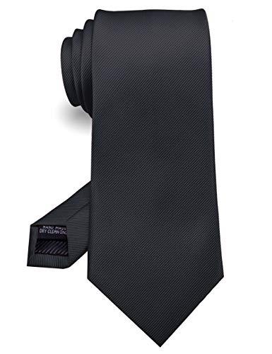 JEMYGINS Noir Cravate Cousue Main pour Homme - Travail, Fête(6),Noir,M