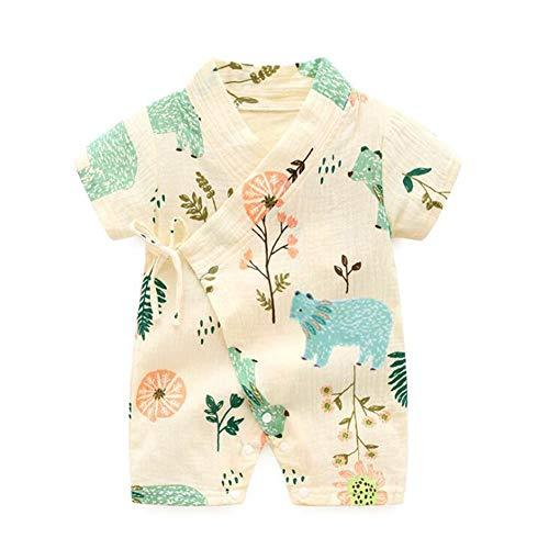 Baby Pyjama Japonais Nouveau-né bébé Vêtements D'Été Vêtement Bébé Enfant Coton Kimono...