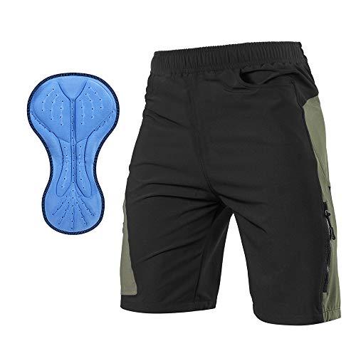 TOMSHOO Montagne Cyclisme Shorts vélo, 3D Rembourré Pantalons de Cyclisme, Cuissard Vélo VTT...