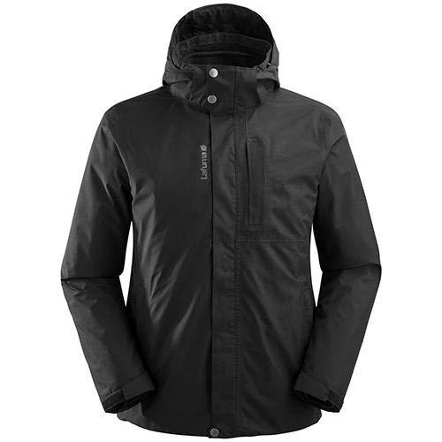 Lafuma - Jaipur GTX 3 en 1 Fleece JKT - Veste Imperméable Homme 3 en 1 Randonnée, Noir Taille L