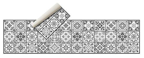 Tapis en vinyle - (hydraulique) - Différentes couleurs et tailles - Tapis de cuisine - Tapis de salle de bain - Tapis de salon antidérapant - Tapis de chambre en caoutchouc spongieux et dessous en PVC