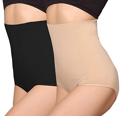 ANGOOL Femme Taille Haute Serre Taille Boby Shapewear Culotte Amincissante Ventre Plat,...