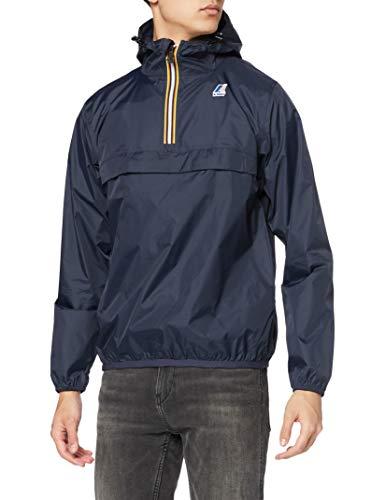 K-Way Le Vrai Leon 3.0 Blouson, Bleu (Depht Blue), Large (Taille Fabricant: L) Homme