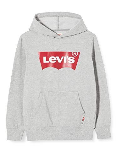 Levi's Kids Gar on Lvb Batwing Screenprint Hoodie Sweat shirt, Grey Heather, 14 ans EU