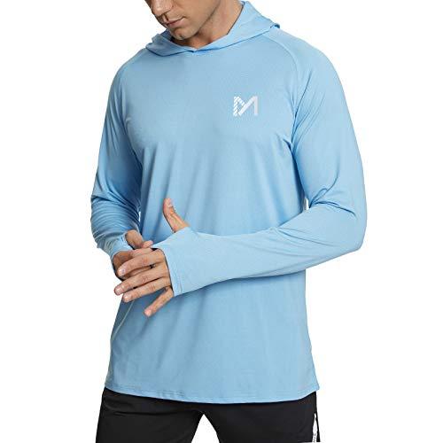 MEETYOO Rashguard Homme, T Shirt Anti UV UPF 50+ Tee Shirt Manches Longues pour Sports Running...
