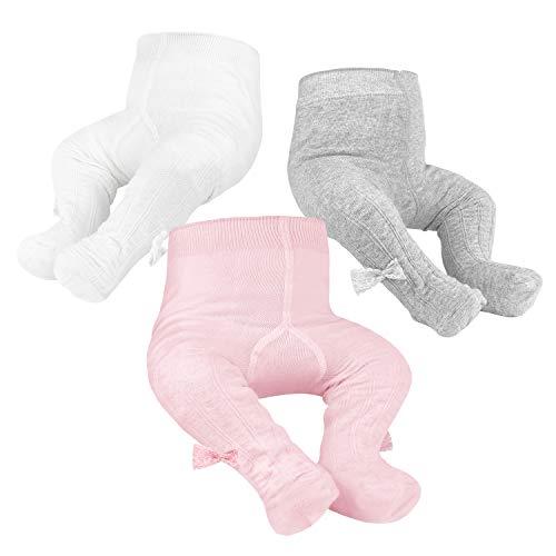 OioTuyi Collants tricotés bébé Leggings en Coton sans Couture Pack de 3 Collants pour Filles Nouveau-nés Nourrissons Tout-Petits 0-2 Ans#Pattern_6-12M prix et achat