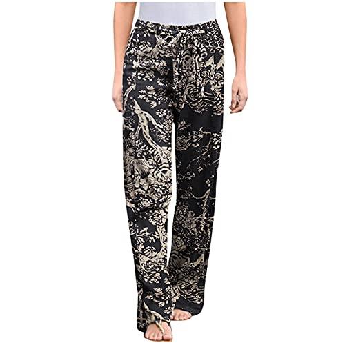 ITISME Pantalon Yoga Femmes Sarouel Bohémien Harem Pants Imprimé Floral pour Danse Orientale...