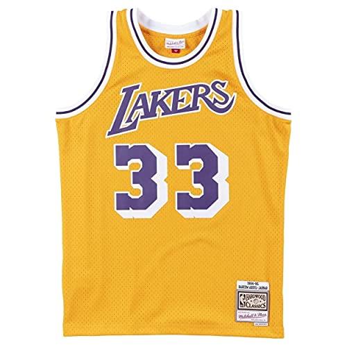 Mitchell & Ness Los Angeles Lakers 33 Kareem Abdul-Jabbar Maillot Swingman NBA Doré (L, Or)