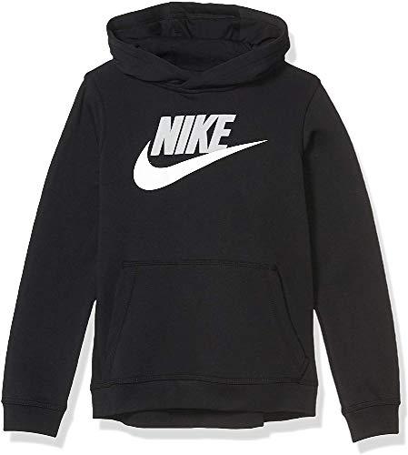 Nike B NSW Club + HBR PO Sweat-shirt (Pour les jeunes), Garçon, Black (Lt Smoke Grey), FR (Taille Fabricant : XS)