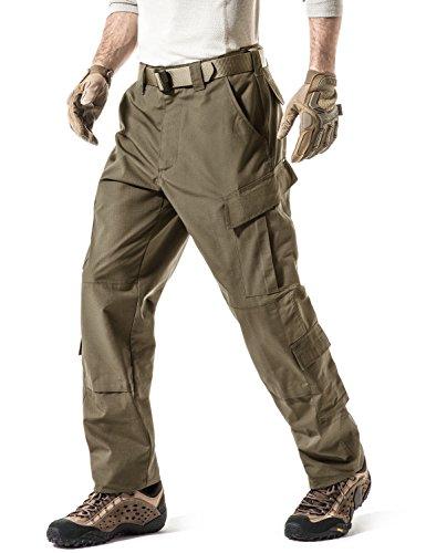 CQR Pantalon militaire tactique pour homme, pantalon de combat, pantalon cargo BDU/ACU, résistant à l'eau, pantalon de travail, randonnée, vêtements d'extérieur L Uap02 1 pack - Coyote