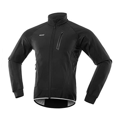 ARSUXEO Cyclisme Veste Homme Hiver Softshell Polaire thermique VTT Vêtement Cycliste 20BUS...