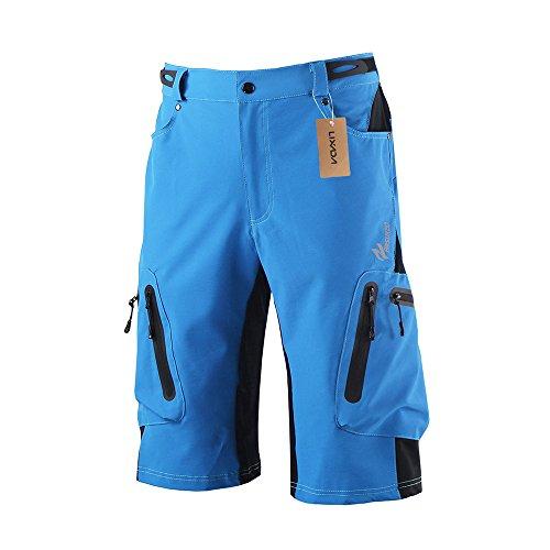 Lixada Shorts de vélo pour hommes, shorts légers respirants pour VTT et shorts amples pour...