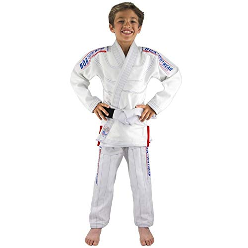 Bõa Kimono de JJB Enfant MA-8R - Blanc - Blanc, M2/120