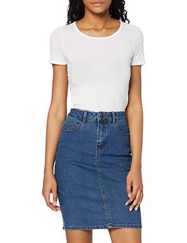 Vero Moda Vmhot Nine Hw DNM Pencil Skirt Mix Noos Jupe, Bleu (Medium Blue Denim Medium Blue...