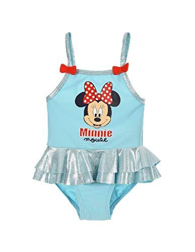 Maillot de Bain 1 pièce bébé/Enfant Fille Minnie Rose et Bleu de 12 à 36mois - Bleu, 24 Mois prix et achat