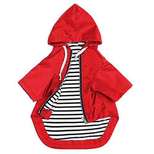 Manteau de pluie élégant pour chien - Jaune - Fermeture éclair - Avec boutons...