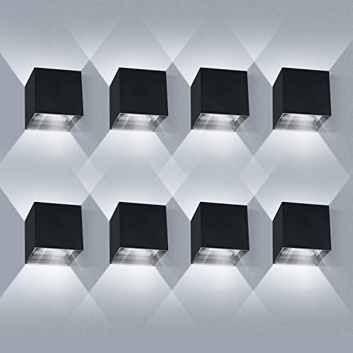 8 Pack Applique Murale LED 12W Etanche IP65 Réglable Applique...
