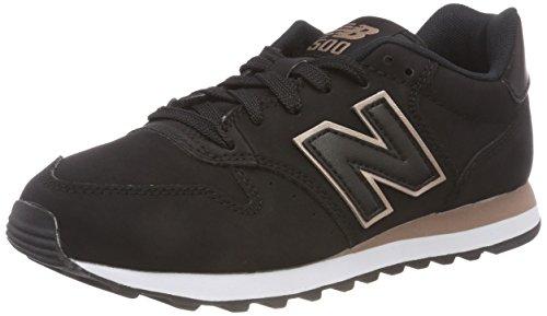 New Balance 500, Baskets Femme, Noir Black Rose Gold Br Black, 39 EU